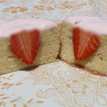 Cupcake coeur de fraise